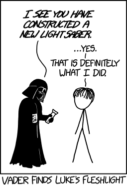 Vader finds Luke's fleshlight