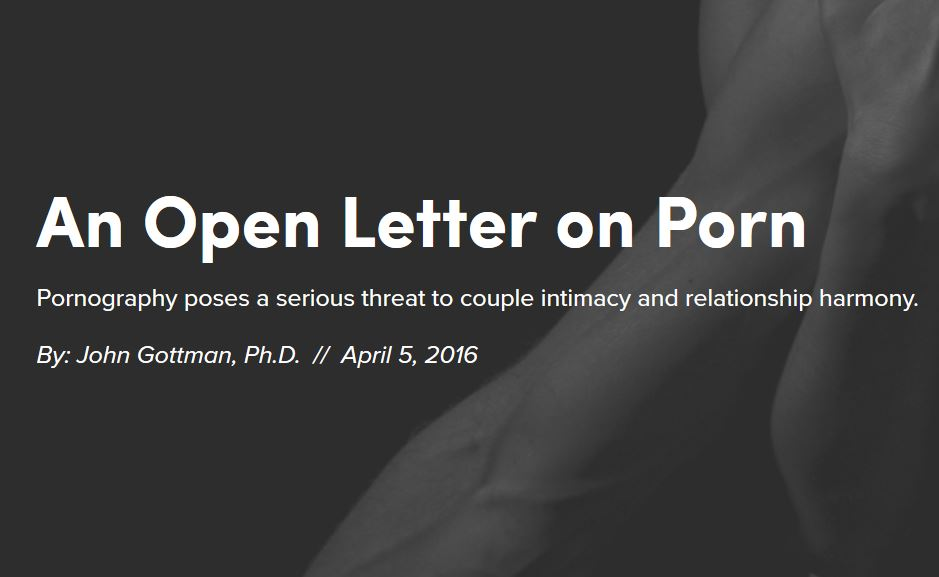 o scrisoare deschisă pe porno