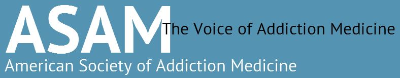 Logo ASAM. American Society of Addiction Medicine