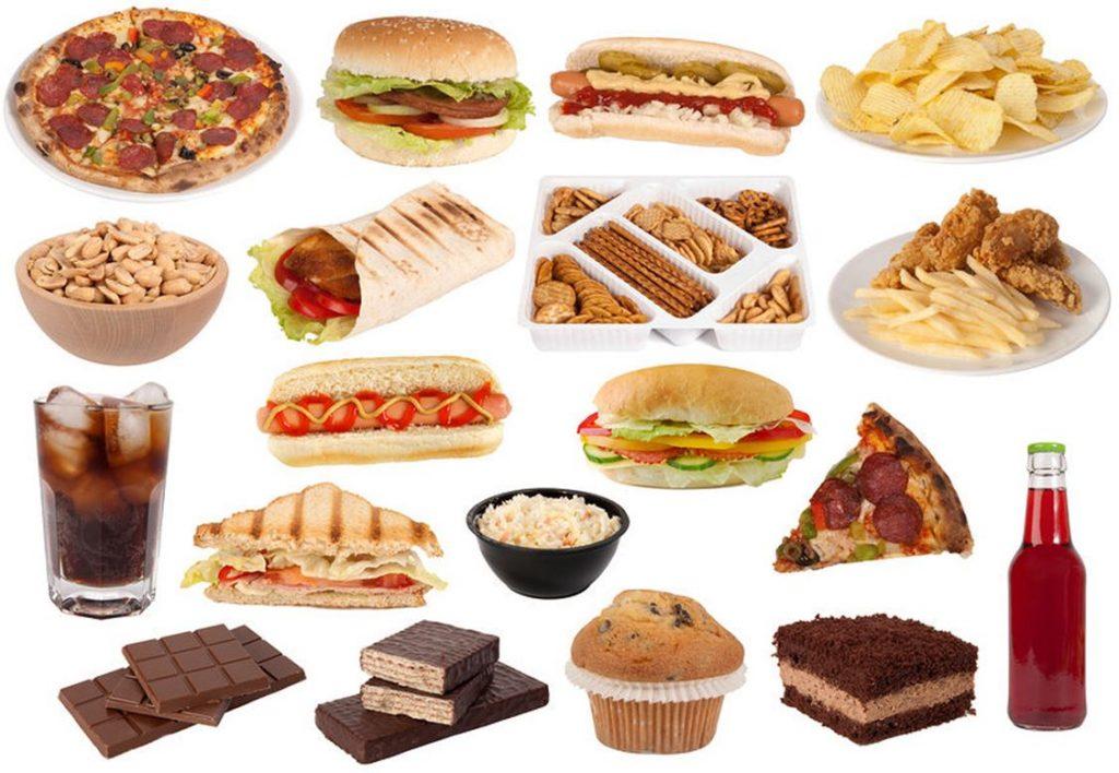 День, картинки вредная пища