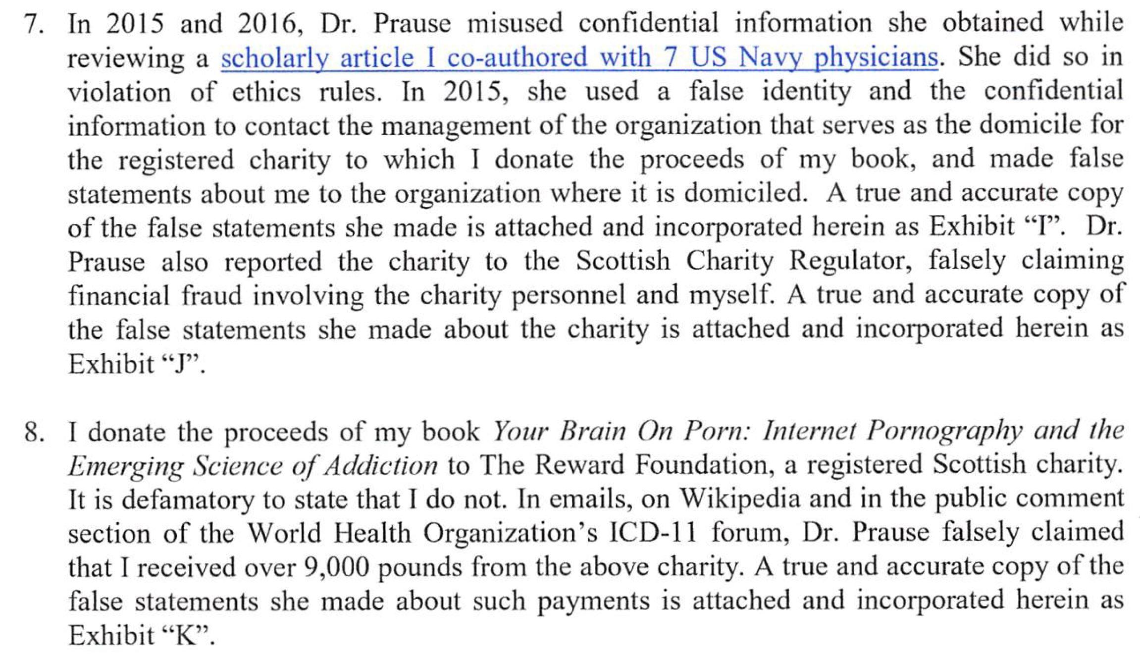 Nicole Prause's Harassment 2